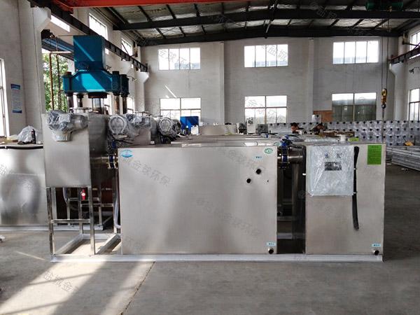 工厂食堂2.8米*1.2米*1.75米智能型油水分离处理机器安装规范