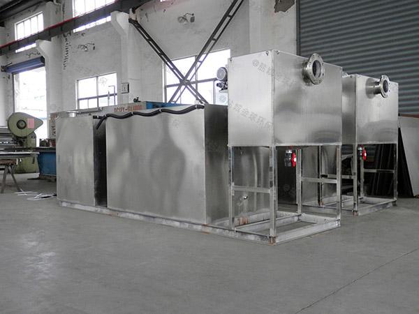 饭堂2.8米*1.2米*1.75米自动一体式隔油设备使用方法及注意事项