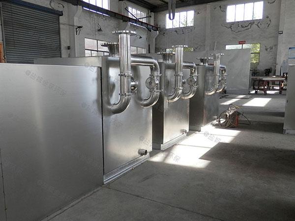 饭堂3.5米*1.35米*1.85米组合式一体化油脂分离器安装规范