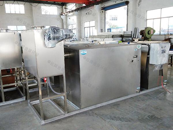单位食堂500人智能型油水分离处理装置原理图纸