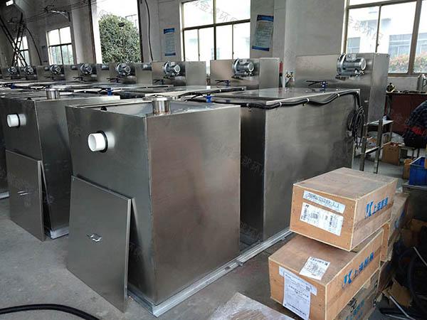 工地食堂3.1米*1.2米*1.85米自动化油水分离过滤机干嘛用的