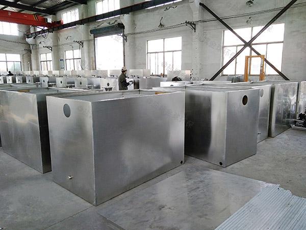 工地甲型全自动一体化油脂分离器工艺流程图