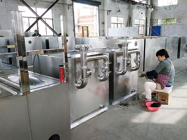 饭馆8吨的长宽高自动除渣一体化油脂分离设备厂家批发