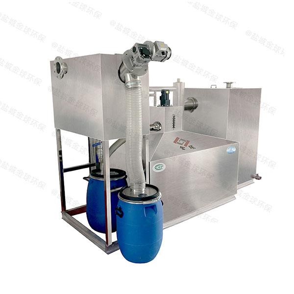 厨余3.1米*1.2米*1.85米自动刮油一体式隔油池组成