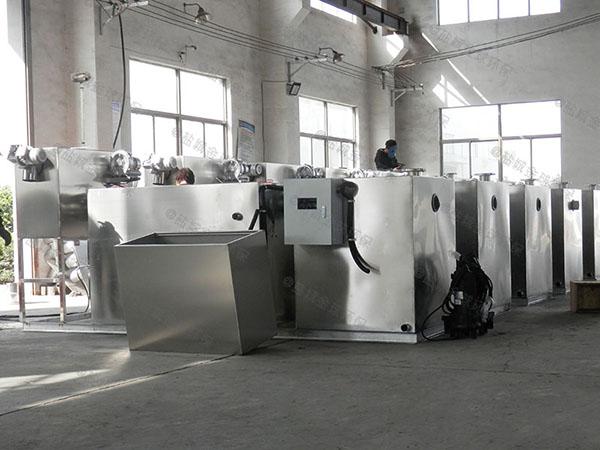 工地食堂3.1米*1.2米*1.85米组合式一体式油水分离器做法效果图