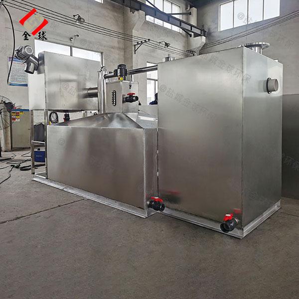 工厂食堂8吨的长宽高智能一体式隔油设备放水视频