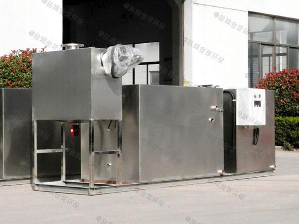 厨余30立方自动排水油水分离处理机器使用图
