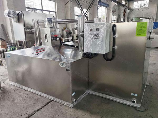 工厂食堂500人自动排水油水分离隔油器除油效果