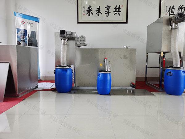 饭馆3.1米*1.2米*1.85米自动提升油水分离处理机器种类