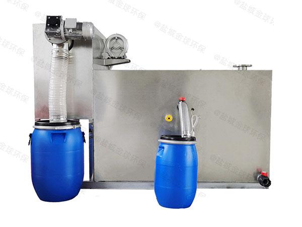 单位食堂100人自动排水油水分离隔油池油用什么泵抽
