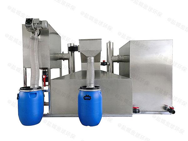 购物中心30立方自动刮油一体式隔油器双杯加什么油