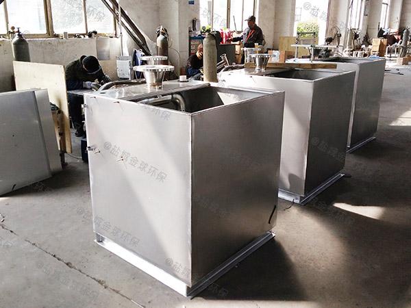 工地食堂500人自动一体化油脂分离设备除油效果