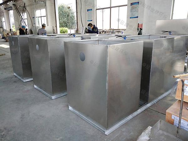 工地食堂甲型智能油水分离隔油器放水教程