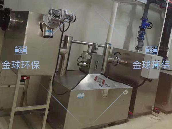 单位食堂2.8米*1.2米*1.75米自动刮油一体化油水分离装置安装规范
