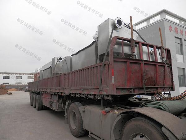 工地食堂8吨的长宽高智能型一体式隔油提升设备技术说明