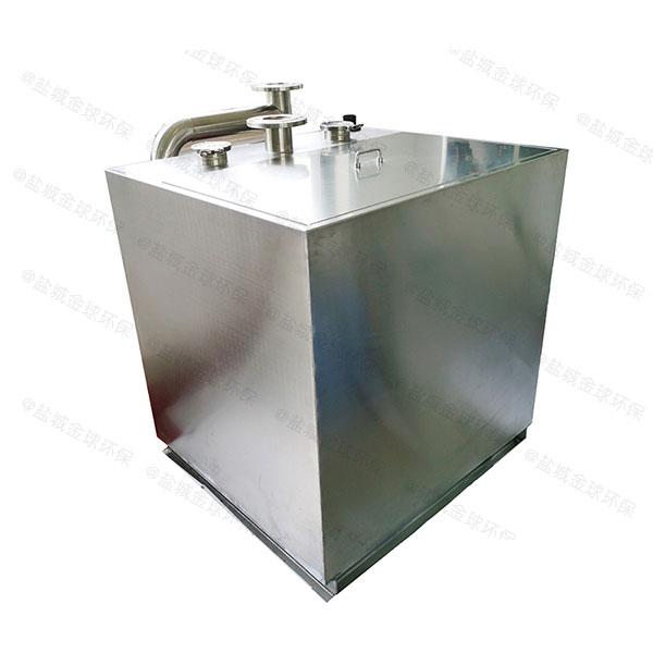 工地食堂3.1米*1.2米*1.85米自动排水油水分离处理装备过程及相关设备