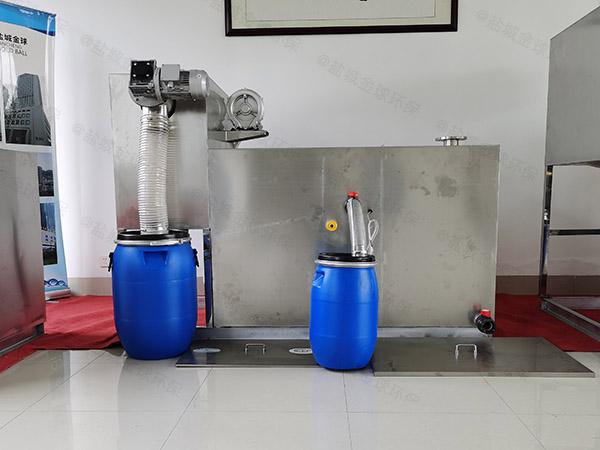 厨余500人自动刮油油水分离处置设备多大尺寸