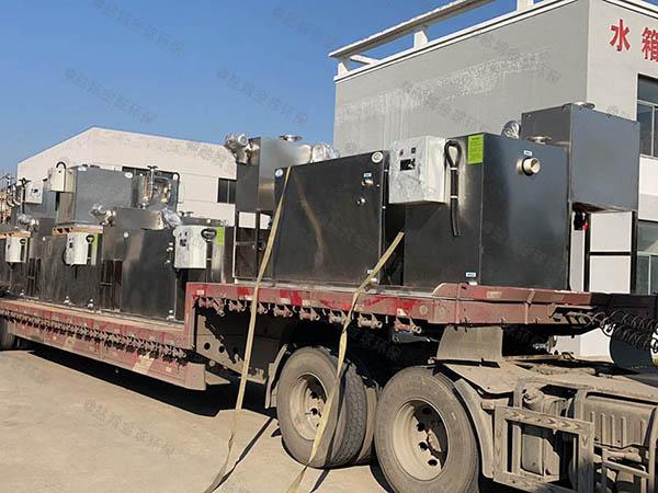 工地食堂2.8米*1.2米*1.75米自动提升油水分离处置设备安装规范