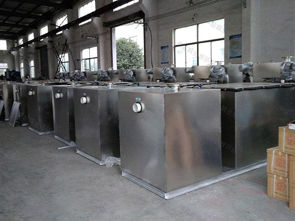 厨余2.8米*1.2米*1.75米自动刮油一体化油水分离设备多大尺寸