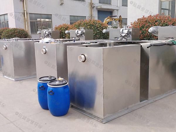 单位食堂3.1米*1.2米*1.85米自动油水分离过滤机尺寸规格