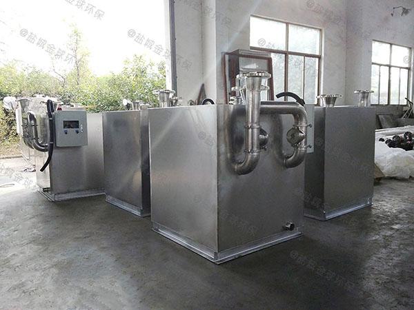 饭堂3.5米*1.35米*1.85米自动提升一体式隔油池技术说明