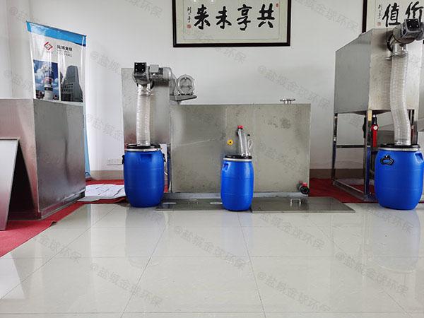 饭堂500人智能型一体式隔油池油用什么泵抽