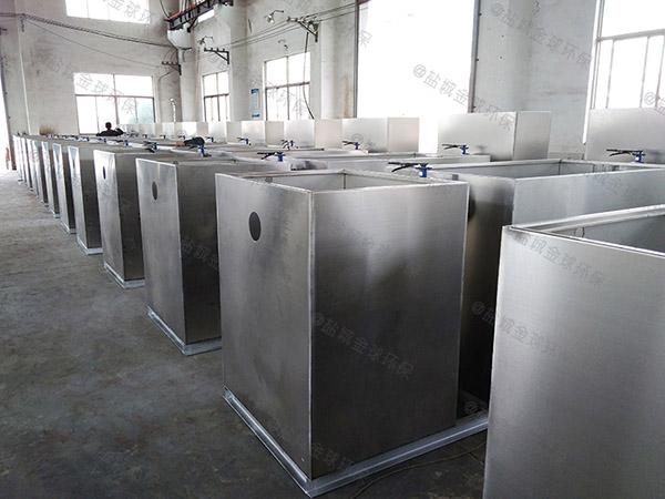 工地食堂100人自动刮油一体化油水分离提升设备油用什么泵抽