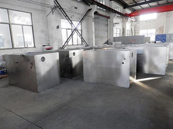 厨余3.1米*1.2米*1.85米自动排水油水分离处置设备放水视频
