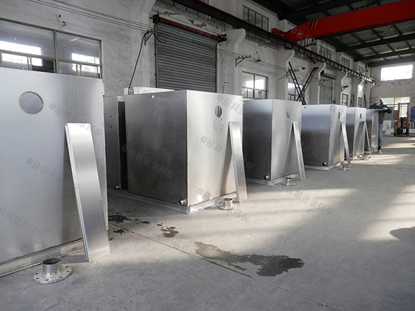 工地食堂3.1米*1.2米*1.85米自动油水分离机设备做法图片