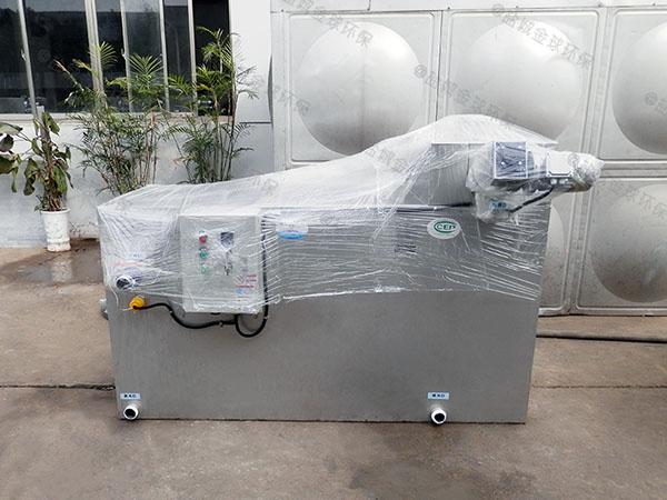 工地食堂500人自动除渣油水分离机设备油和水怎么处理