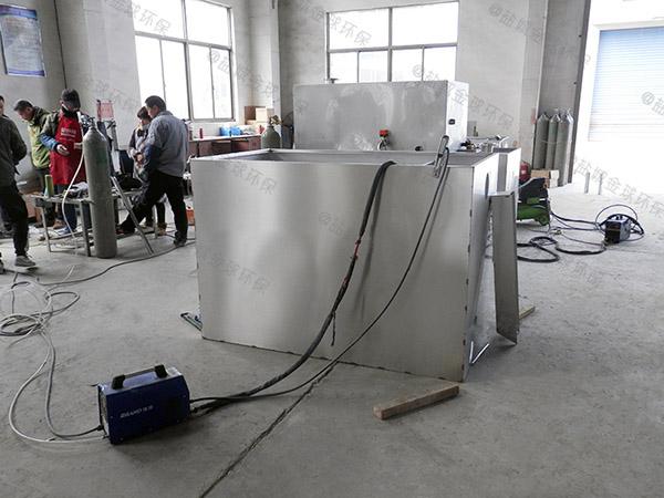 单位食堂100人组合式油水分离隔油池组成