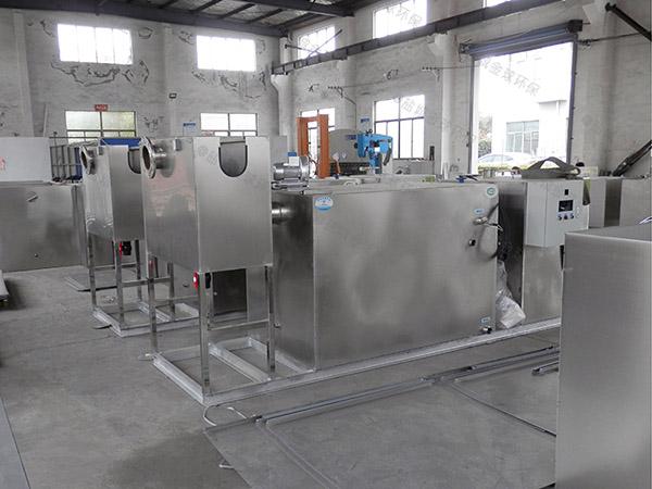 后厨3.1米*1.2米*1.85米智能一体化油水分离装置油和水怎么处理