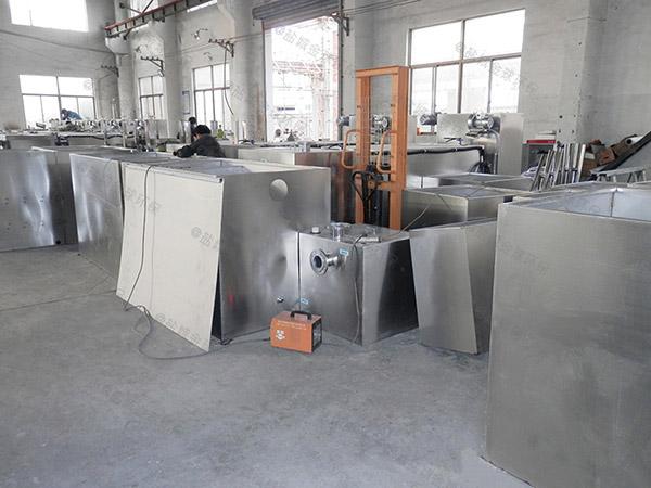 工地食堂3.1米*1.2米*1.85米自动排水一体化油脂分离器组成