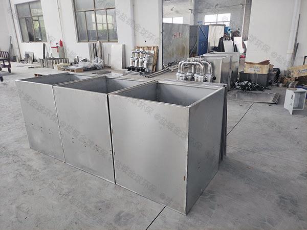 单位食堂8吨的长宽高智能油水分离处理装备原理介绍