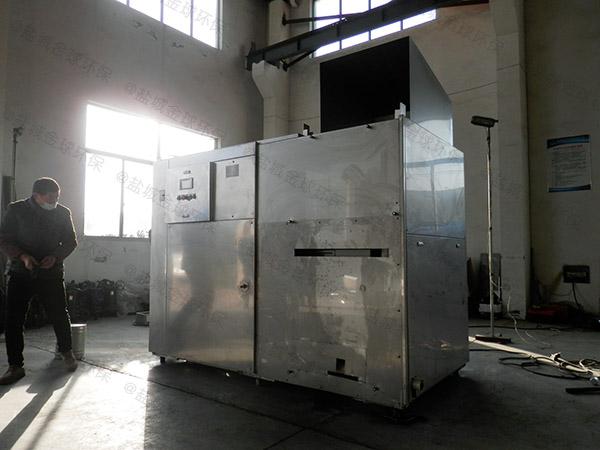 日处理10吨自动化厨余垃圾压缩设备使用情况