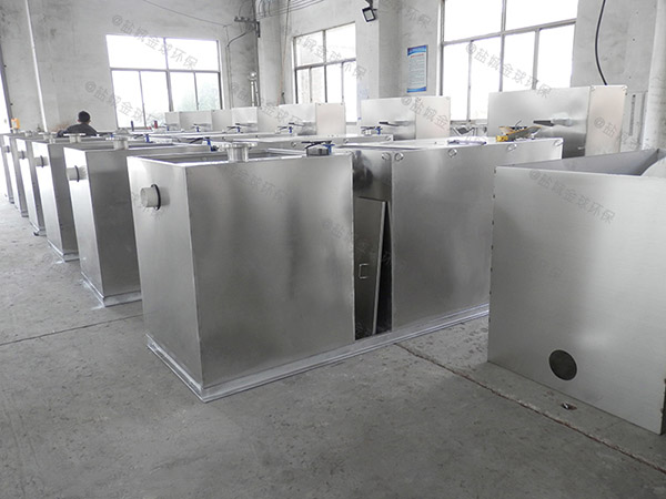 工地食堂3.1米*1.2米*1.85米智能型一体式隔油设备放水教程