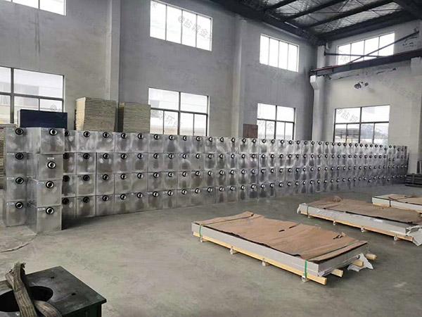 后厨1000人自动除渣一体化油水分离设备实体厂家