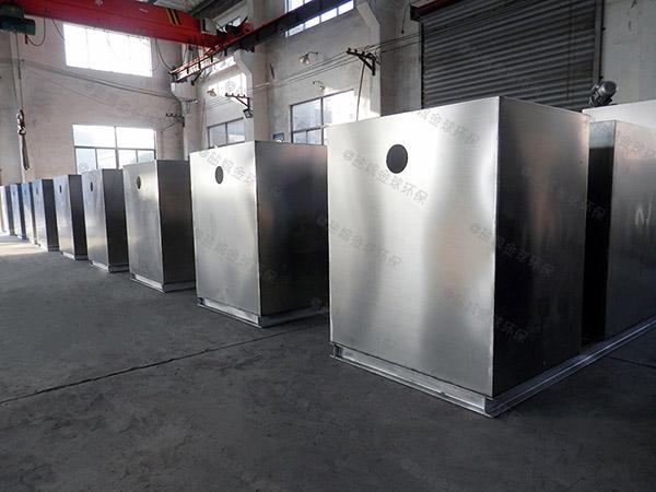饭堂甲型自动除渣一体式隔油器多大尺寸